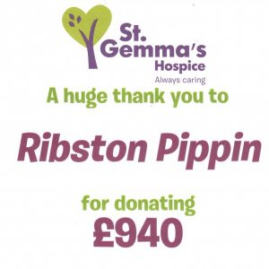 St Gemma's Hospice Fundraising total for 2017